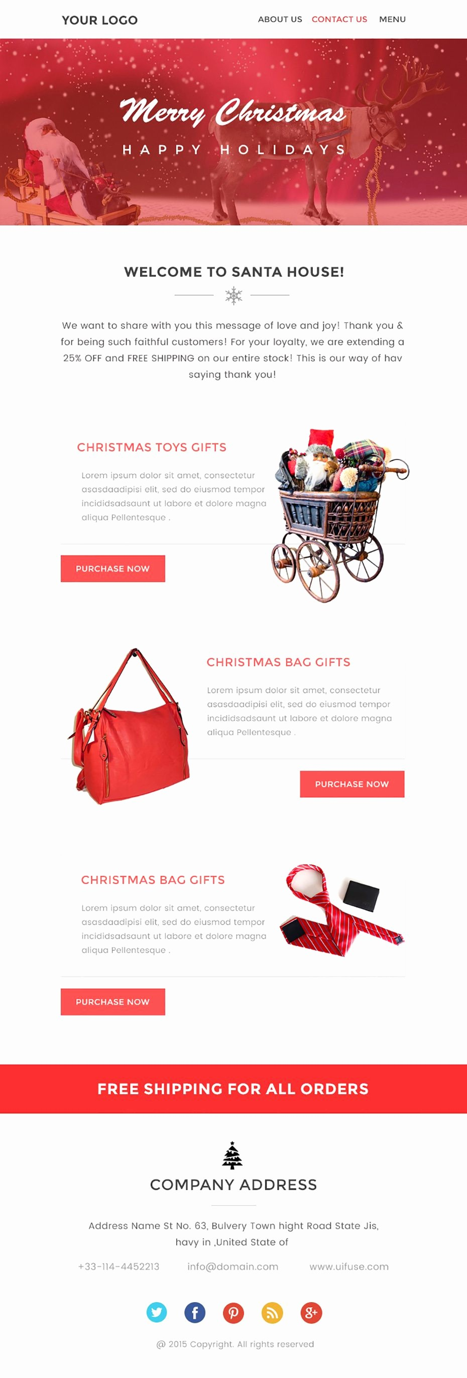 Newsletter Design Templates Free Download Unique Christmas Newsletter Template – Free Psd Download Uifuse