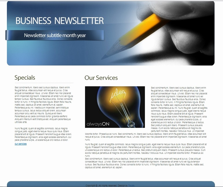 Newsletter Design Templates Free Download Unique Download Free HTML Business Newsletter Template • 7boats