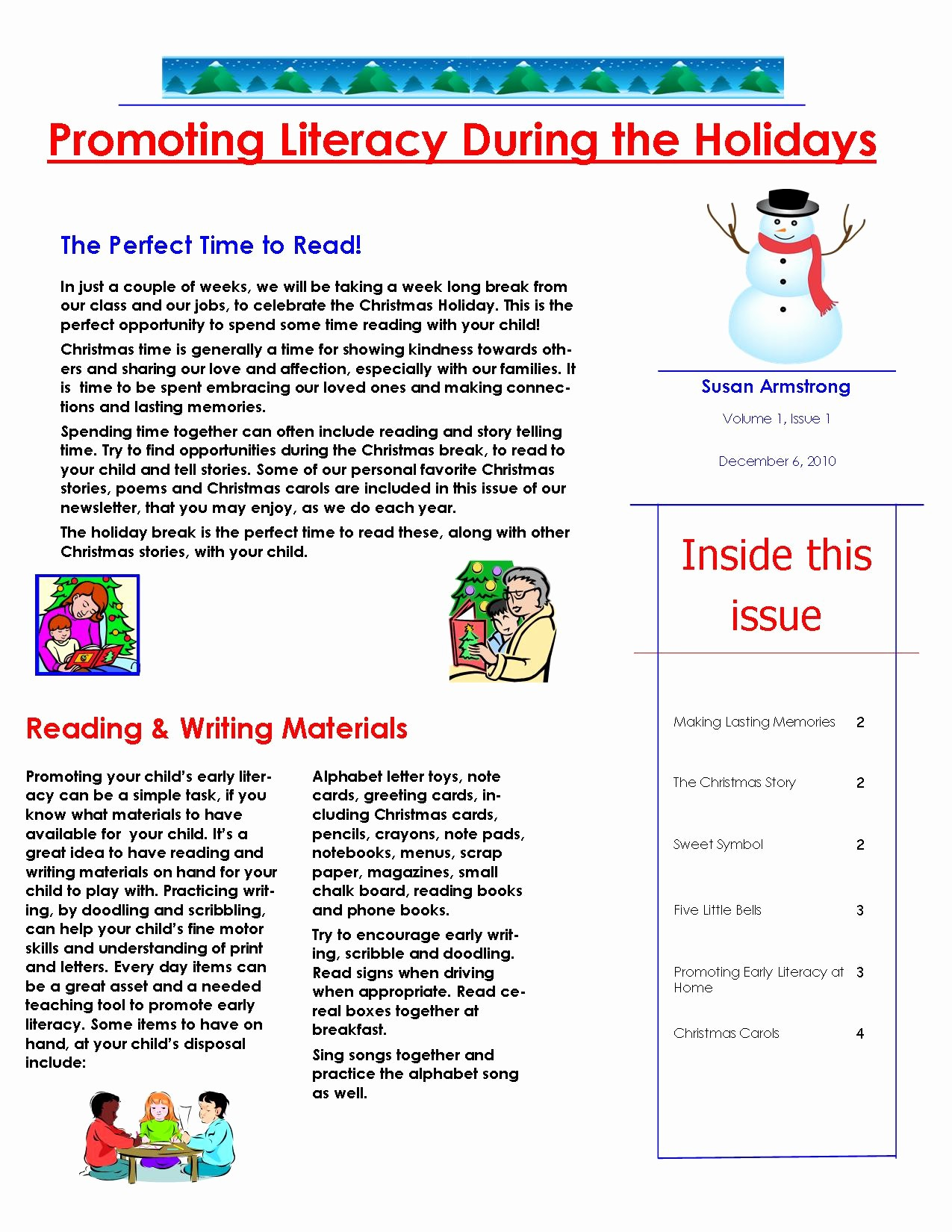 Newsletter for Parents From Teachers Awesome Page 1 Teacher Teacher