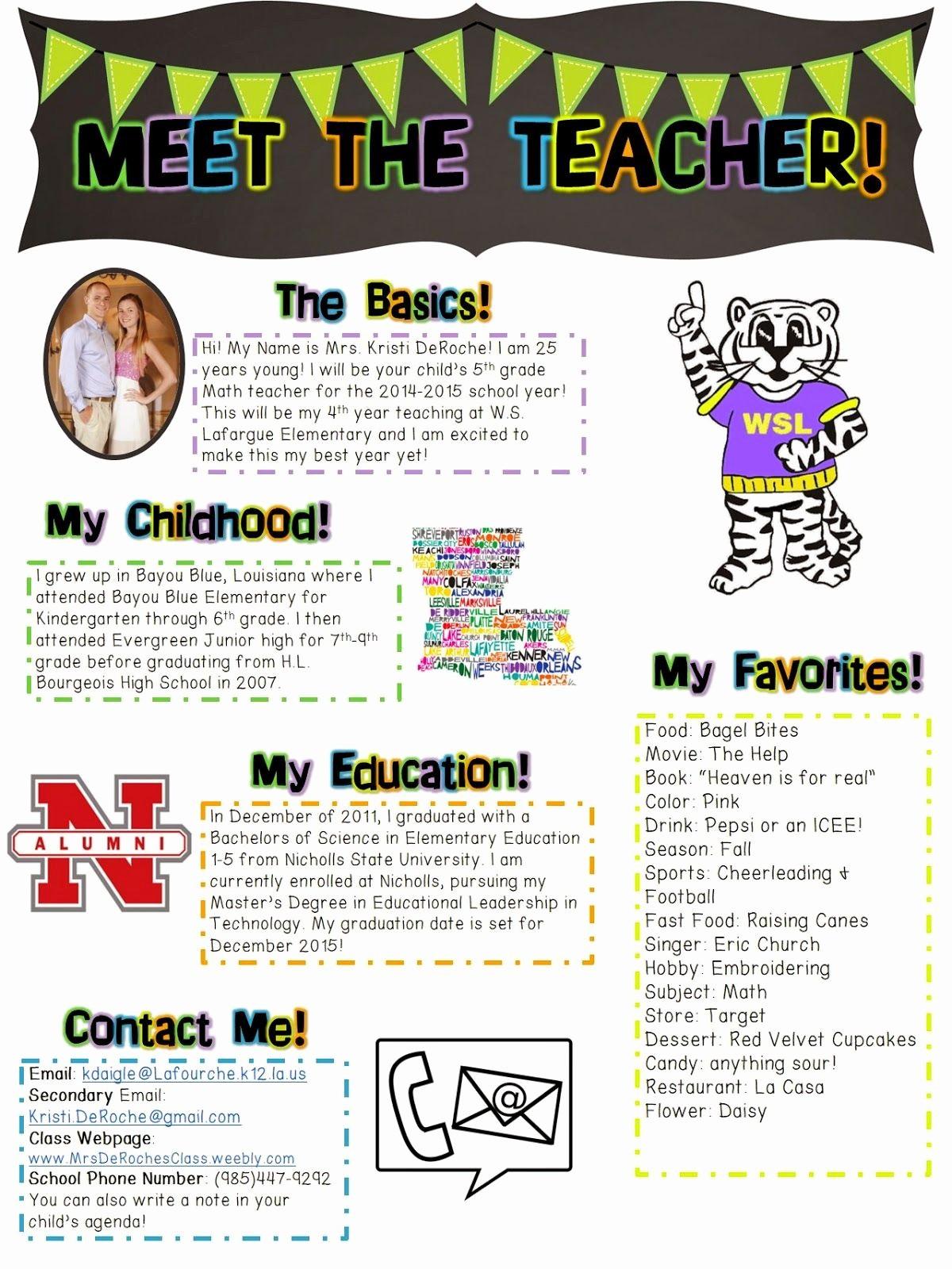 Newsletter for Parents From Teachers Beautiful Meet the Teacher Open House Newsletter