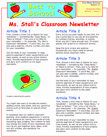 Newsletter for Parents From Teachers Beautiful School Newsletter Template