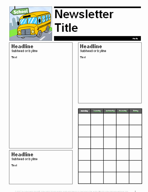 Newsletter for Parents From Teachers Best Of August September Parent Newsletter Template