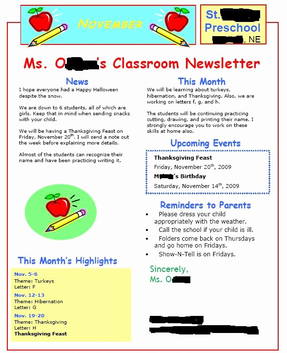 Newsletter for Parents From Teachers Best Of Can someone Share their Monthly Weekly Newsletter to