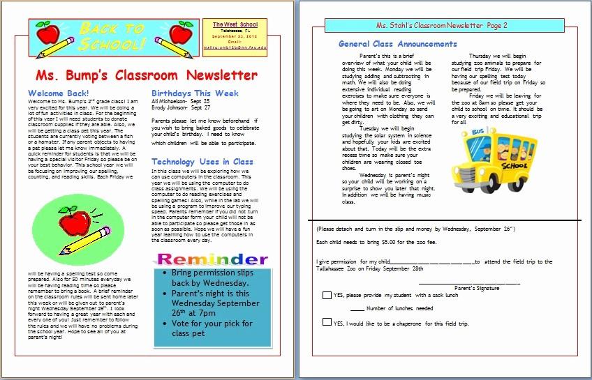 Newsletter for Parents From Teachers Elegant Amb12b