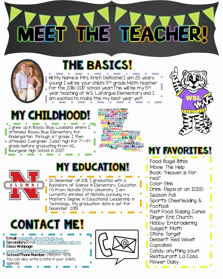 Newsletter for Parents From Teachers Elegant Meet the Teacher Newsletter Template Editable