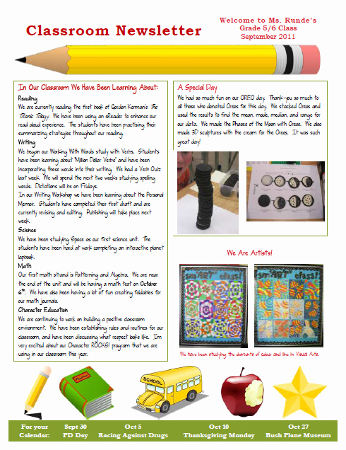 Newsletter for Parents From Teachers Elegant Runde S Room My New Classroom Newsletter