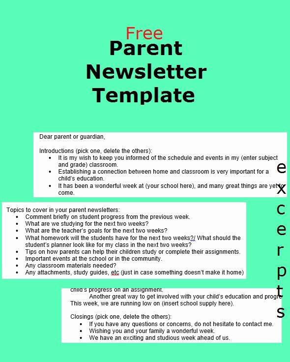 Newsletter for Parents From Teachers Lovely Best 10 Parent Newsletter Template Ideas On Pinterest