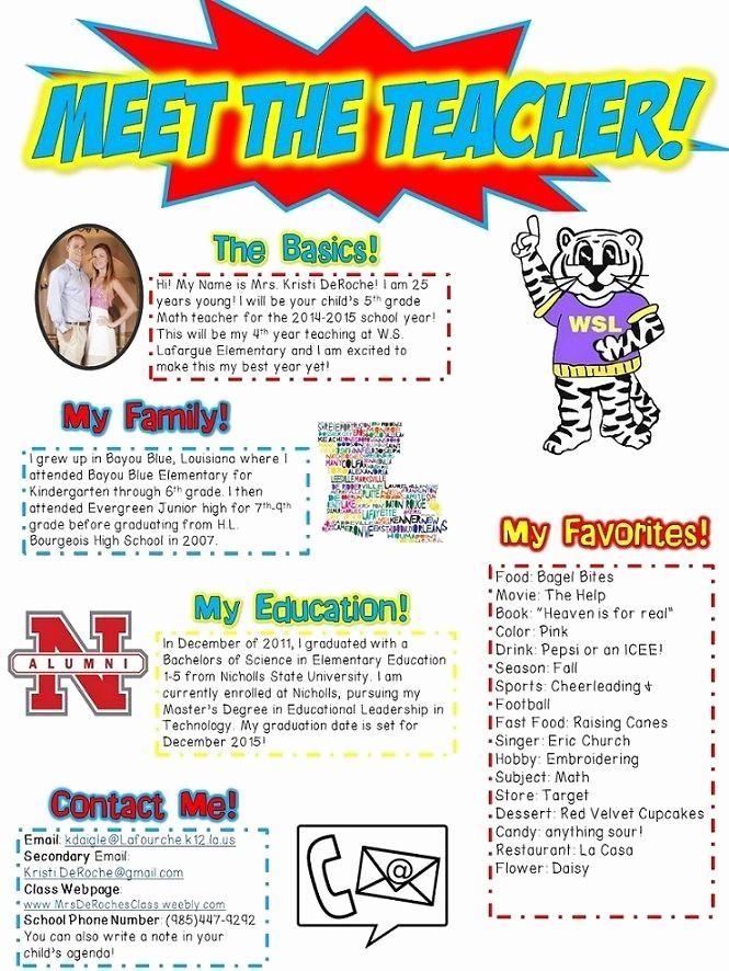 Newsletter for Parents From Teachers Luxury Meet the Teachers Newsletter Editable Superhero Red