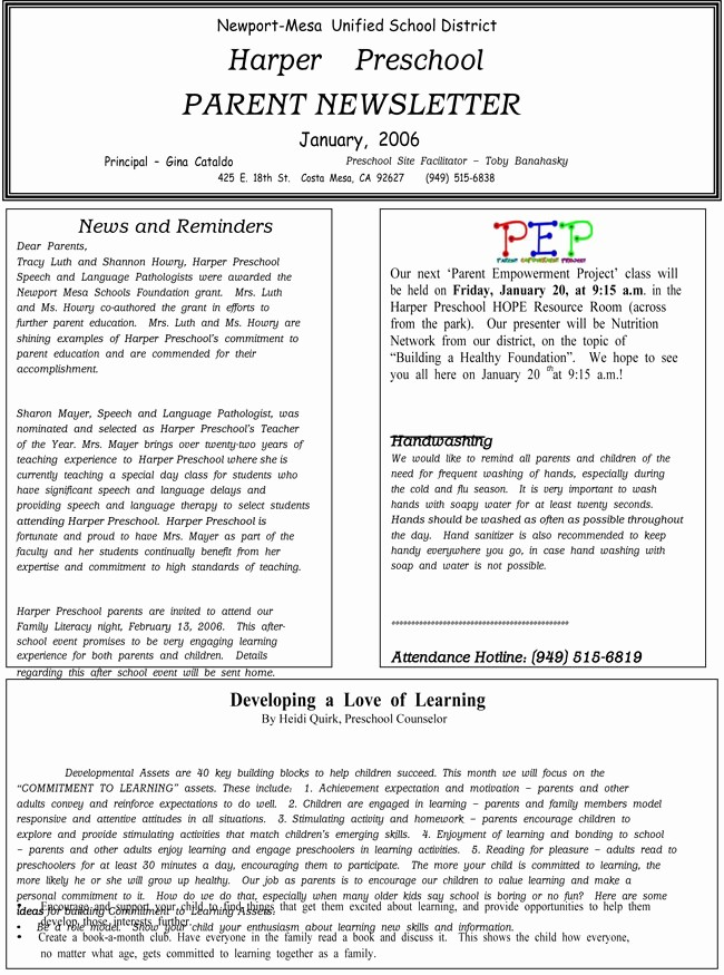 Newsletter for Parents From Teachers New 16 Preschool Newsletter Templates Easily Editable and