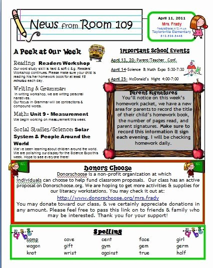 Newsletter for Parents From Teachers New Free Kindergarten Templates Downloads