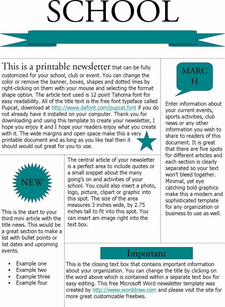 Newsletter Templates for Microsoft Word Awesome Download Microsoft Newsletter Templates for Free