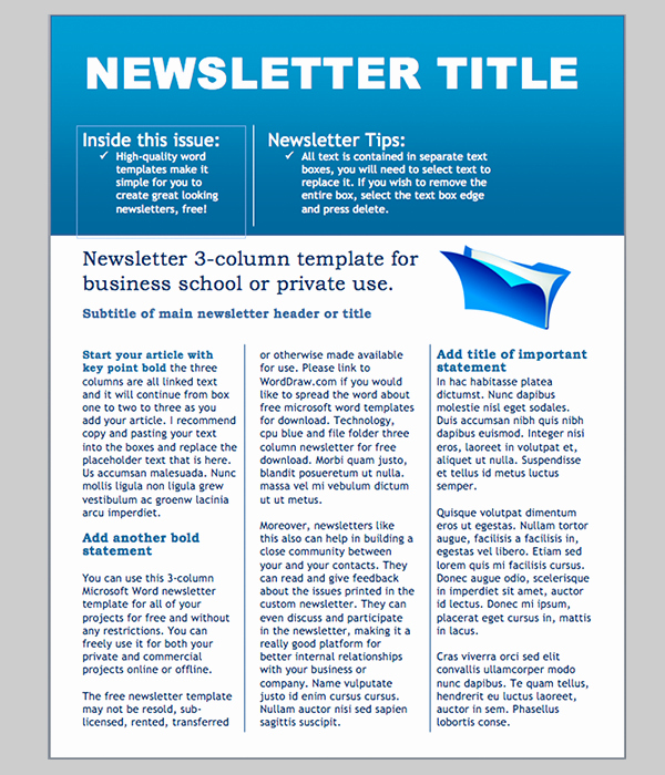 Newsletter Templates for Microsoft Word Awesome Word Newsletter Template – 31 Free Printable Microsoft