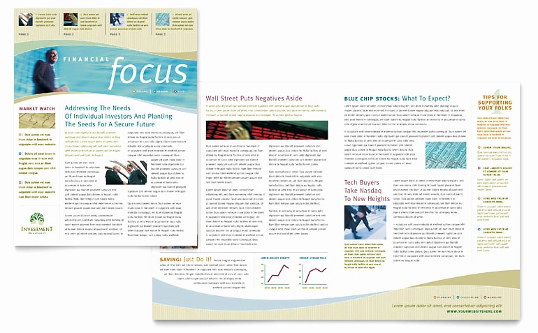 Newsletter Templates for Microsoft Word Beautiful Investment Management Newsletter Template Word & Publisher