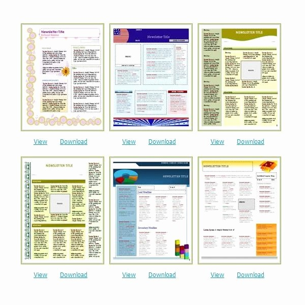 Newsletter Templates for Microsoft Word Elegant where to Find Free Church Newsletters Templates for