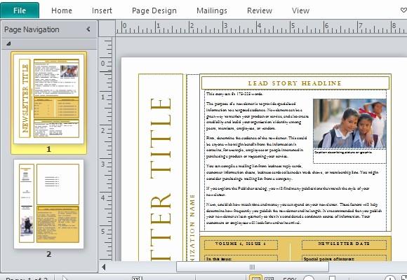 Newsletter Templates for Microsoft Word Fresh 10 Best Of Create Newsletters Free Templates Free