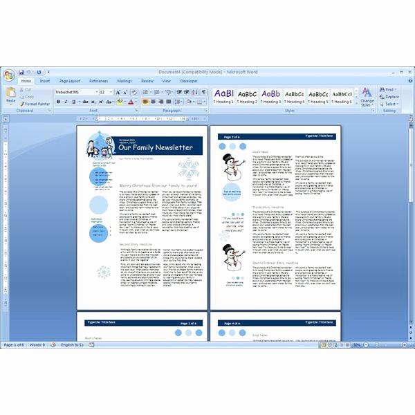 Newsletter Templates for Microsoft Word Fresh Download the top Free Microsoft Word Templates Newsletters