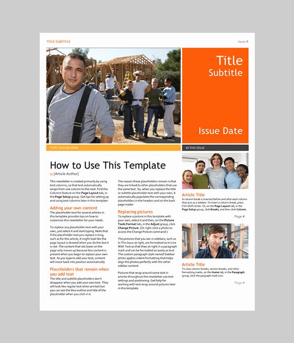 Newsletter Templates for Microsoft Word Fresh Word Newsletter Template – 31 Free Printable Microsoft