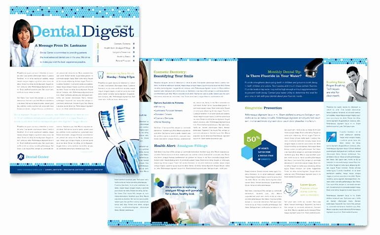 Newsletter Templates for Microsoft Word Lovely Dentistry & Dental Fice Newsletter Template Word