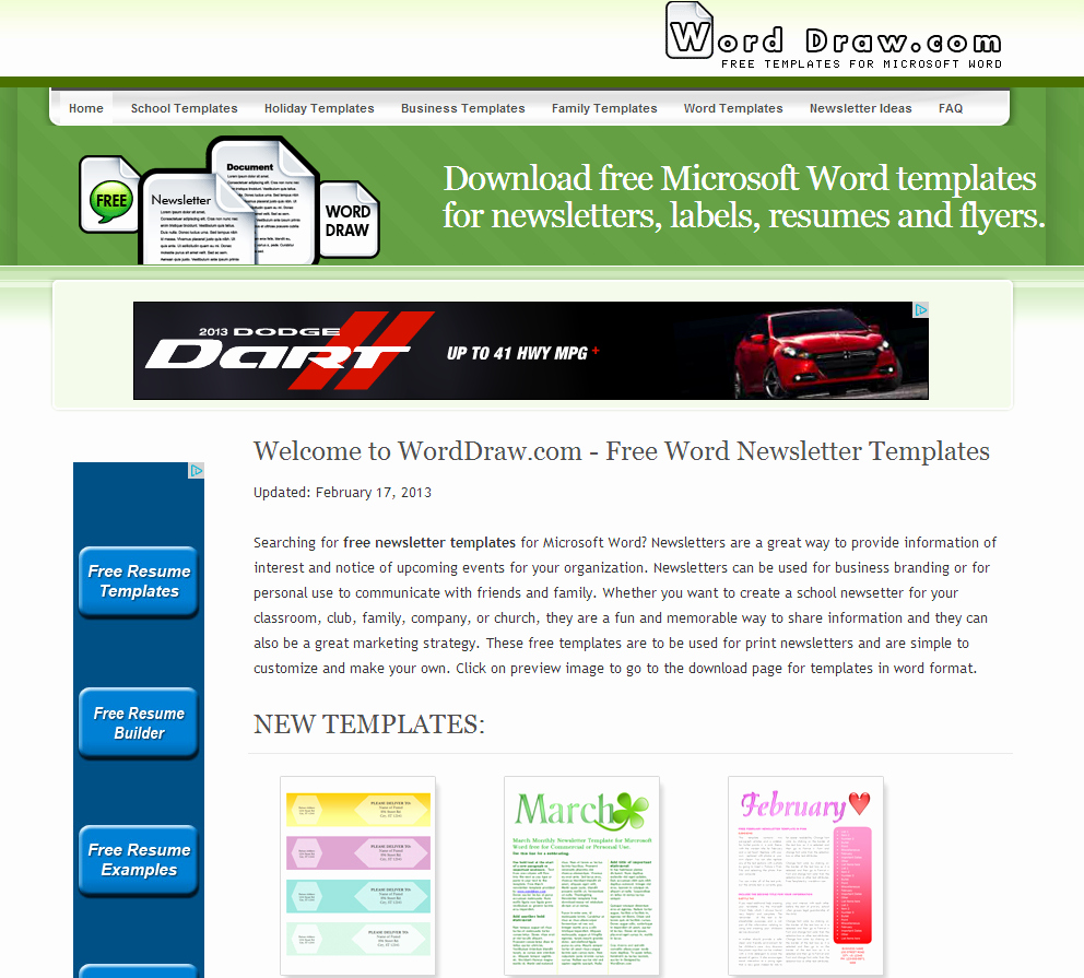 Newsletter Templates for Microsoft Word Lovely Learning Never Stops Word Draw Free Newsletter