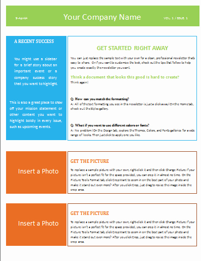Newsletter Templates for Microsoft Word Unique Newsletter Template Microsoft Word Templates