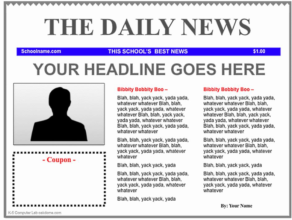 Newspaper Article Template Microsoft Word Beautiful 3 Good Ipad Newspaper Templates for Teachers