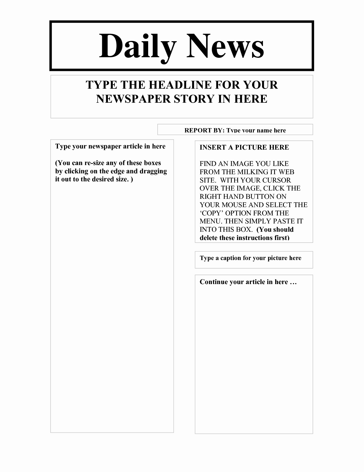 Newspaper Article Template Microsoft Word Beautiful Best S Of Newspaper Article Layout Template