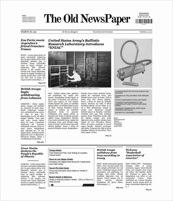 Newspaper Article Template Microsoft Word Beautiful Free Newspaper Template 10 Blank Google Docs Word