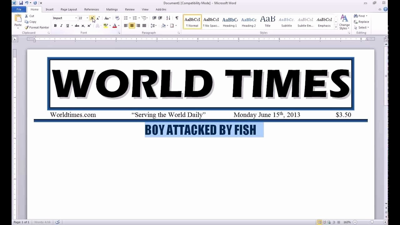Newspaper Article Template Microsoft Word Lovely Collection Of solutions How to Make A Newspaper Article