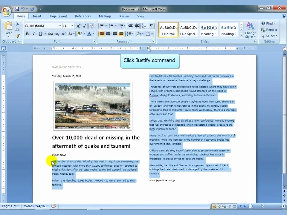 Newspaper Article Template Microsoft Word Unique Ms Word 2007 Newspaper Columns4