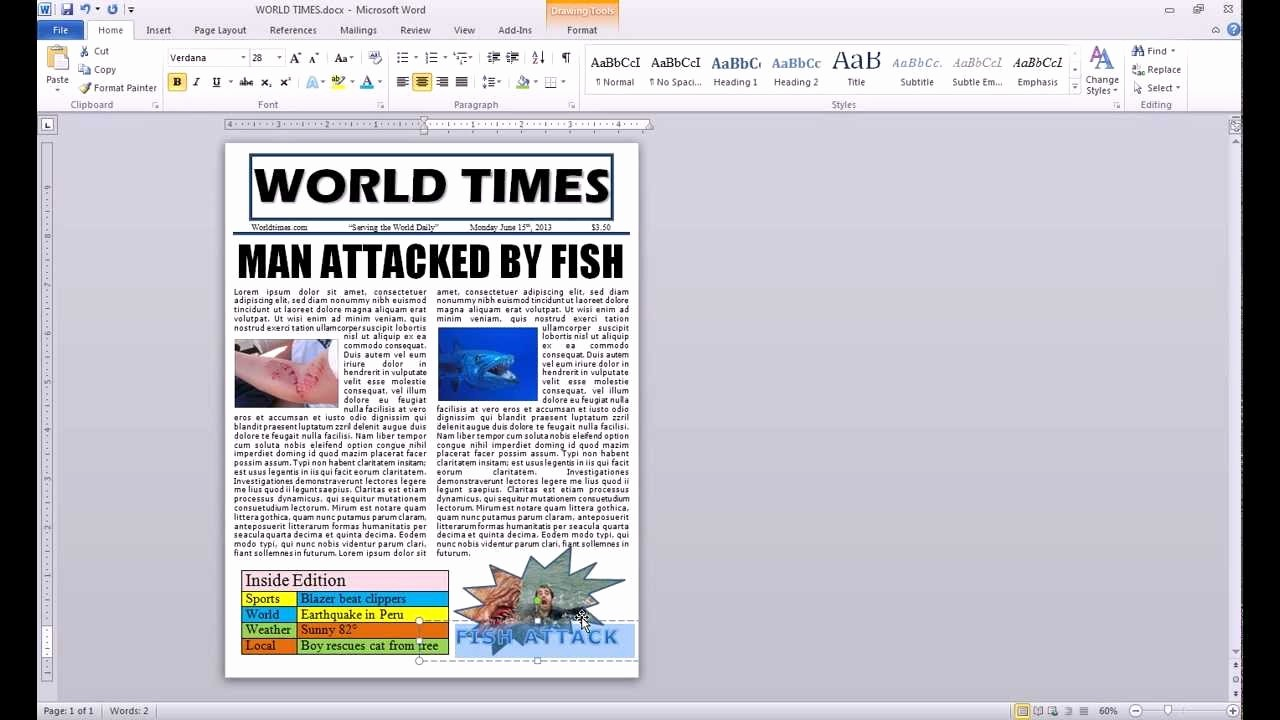 Newspaper Template for Word 2010 Awesome How to Make A Newspaper Article Template Microsoft Word