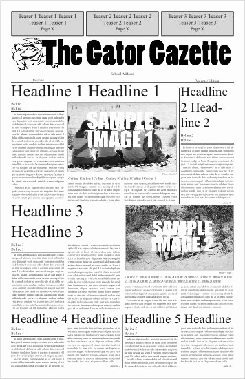 Newspaper Template for Word 2010 Lovely Best S Of Newspaper Cover Page Template Blank