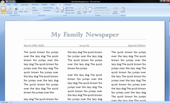 Newspaper Template for Word 2010 Luxury Ideas Of How to Make A Newspaper Article Template