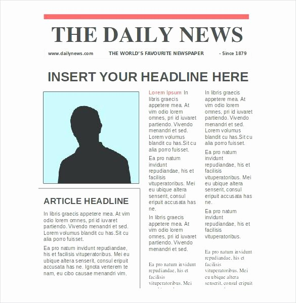Newspaper Template for Word 2010 Luxury Word Front Page Template – Rightarrow Template Database