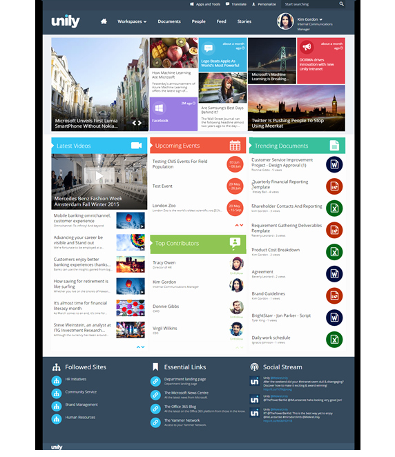 Newspaper Template for Word 2013 Awesome Unily Intranet Built On Microsoft Fice 365 and