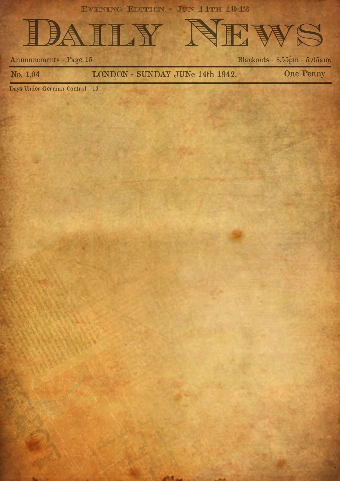 Newspaper Template for Word 2013 Beautiful Old Newspaper Template