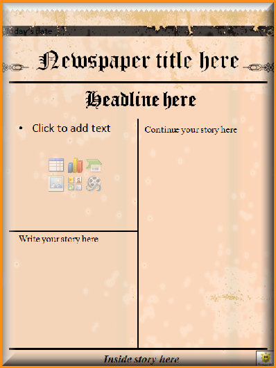 Newspaper Template for Word 2013 Best Of 9 Front Page Newspaper Article Template