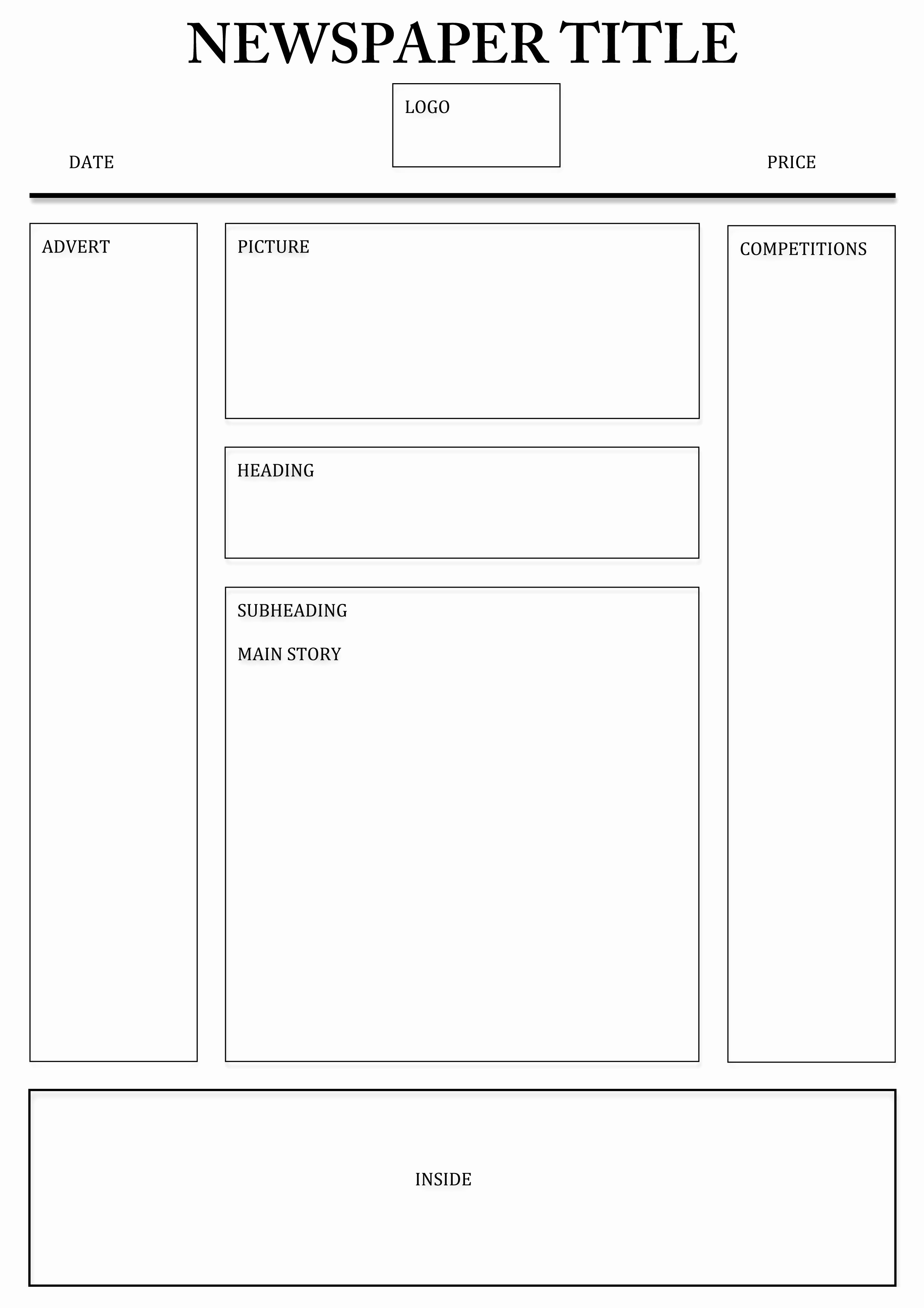 Newspaper Template for Word 2013 Inspirational Newspaper Template – 4