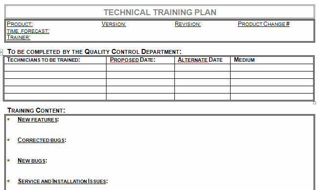 Newspaper Template for Word 2013 Lovely Technical Training Plan Template Microsoft Word Download