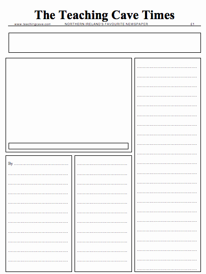 Newspaper Template for Word 2013 Lovely Writing Newspaper Reports Ks1 and Ks2