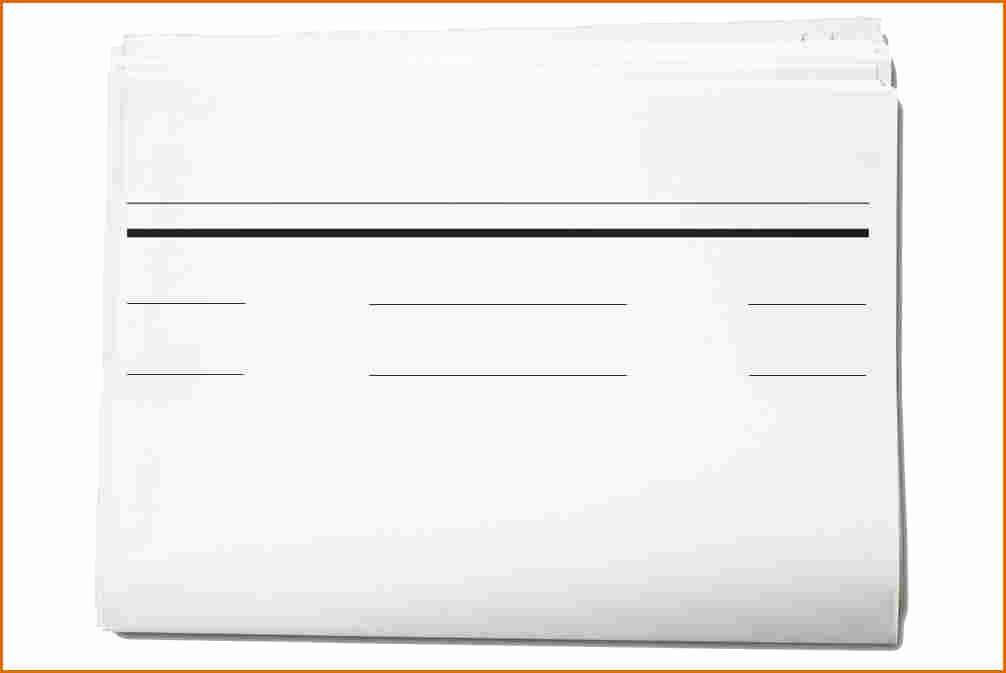 Newspaper Template for Word 2013 Luxury 5 Blank Newspaper Template