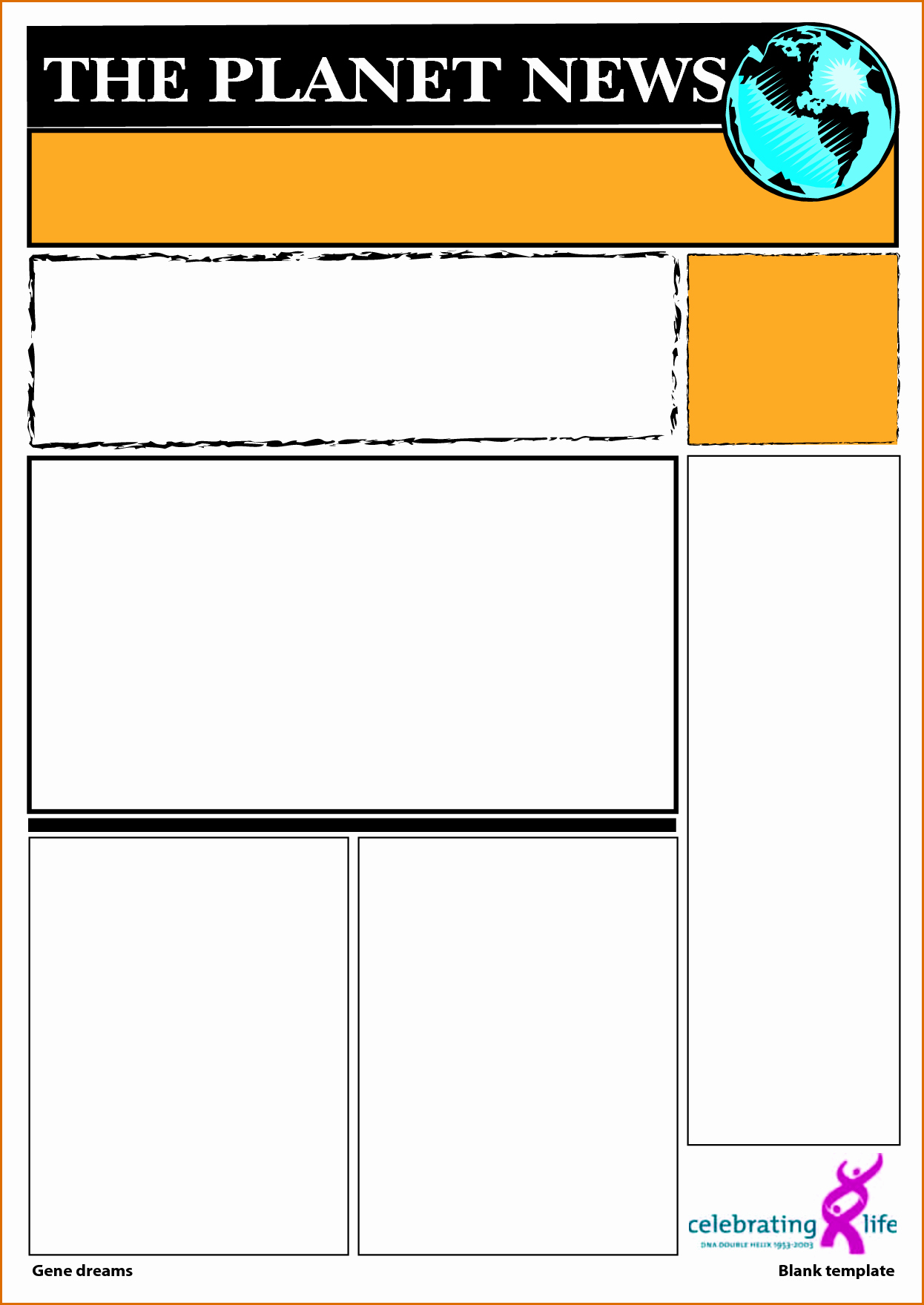 Newspaper Template for Word 2013 New 5 Blank Newspaper Template