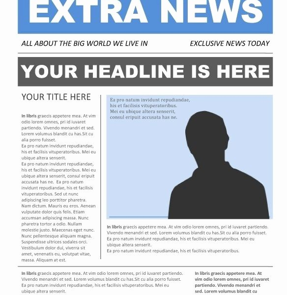 Newspaper Template for Word 2013 New Newspaper Article Layout Template for Word