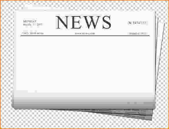 Newspaper Template for Word 2013 Unique 4 Free Newspaper Templates