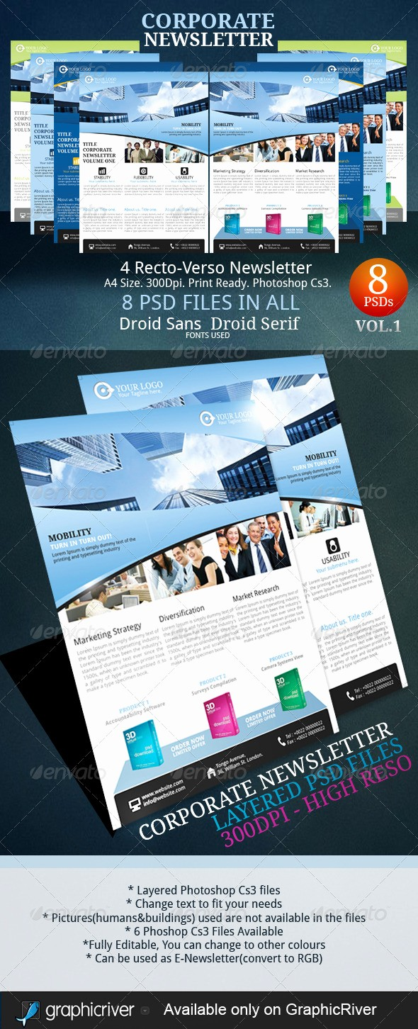 Newspaper Template for Word 2013 Unique 9 Premium Business Newsletter Templates