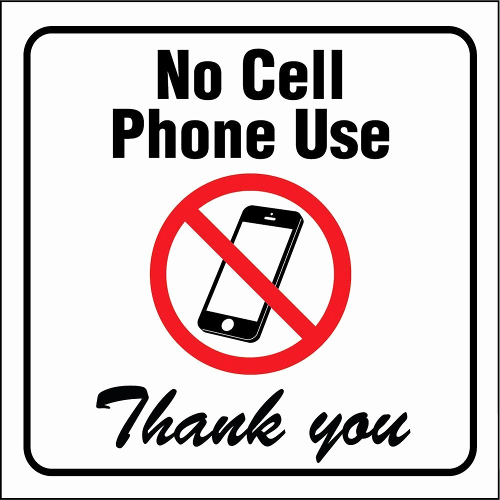 No Cell Phone Use Sign Best Of Hy Ko 4 In X 4 In Vinyl No Cell Phones Please Sign Hsv
