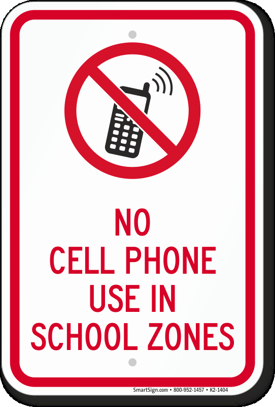 No Cell Phone Use Sign Elegant School Parking Signs School Zone Speed Limit Signs