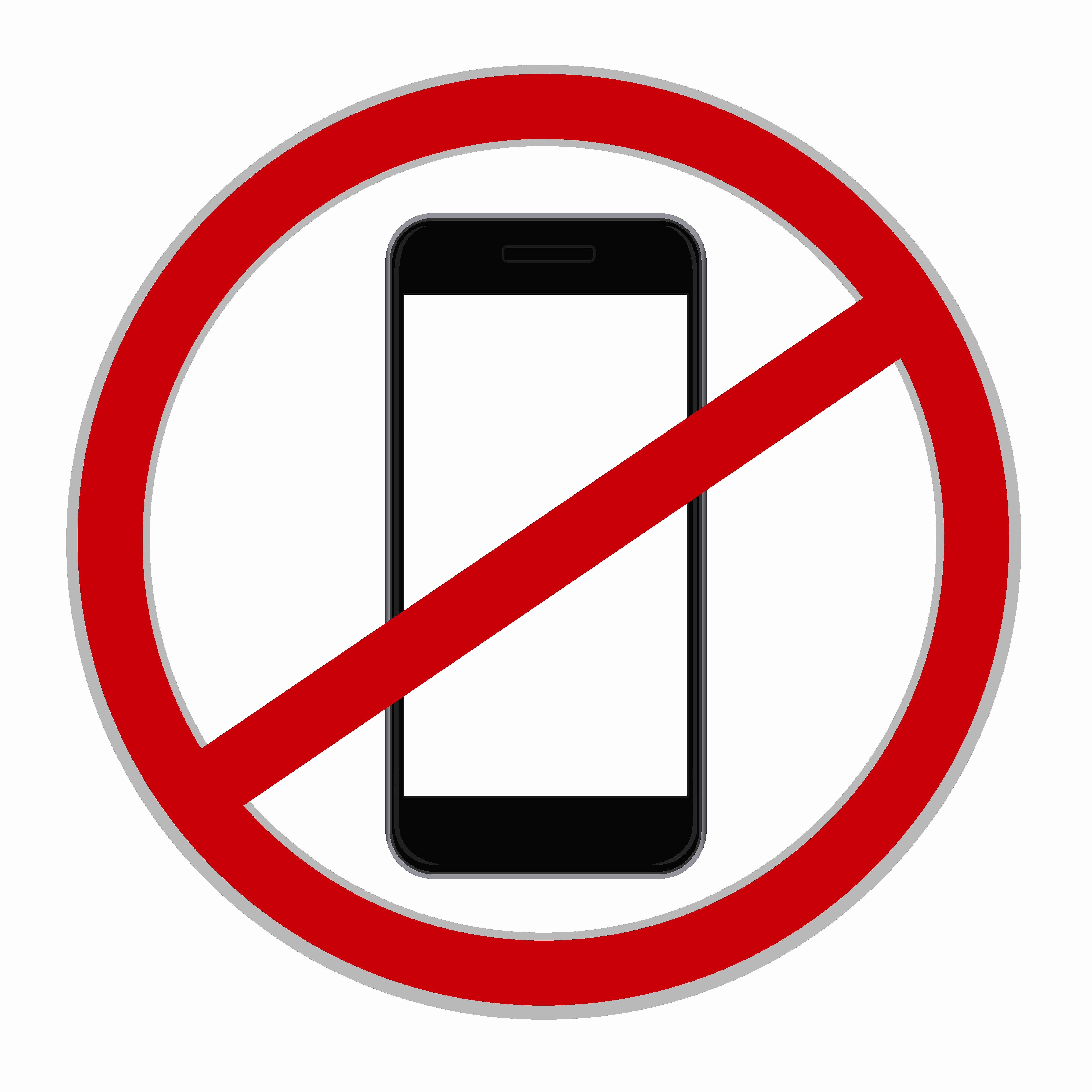 No Cell Phone Use Sign Inspirational No Cellphone Sign Illustrations Creative Market