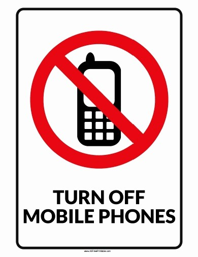 No Cell Phones Sign Printable Beautiful Turn F Mobile Phone Sign Free Printable