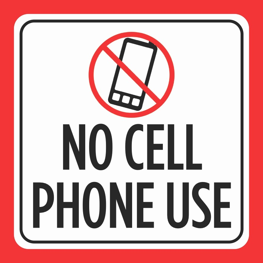 No Cell Phones Sign Printable Best Of Aluminum No Cell Phone Use Print Red White Black Picture