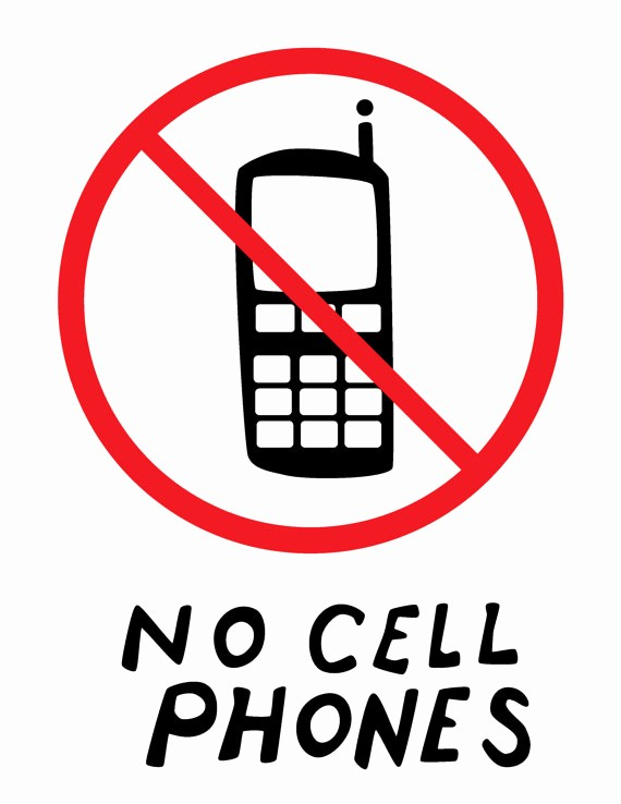 No Cell Phones Sign Printable Best Of Luke S Diner No Cell Phone Sign From Gilmore Girls